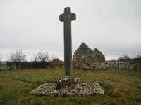 Cloncha Church and High Cross