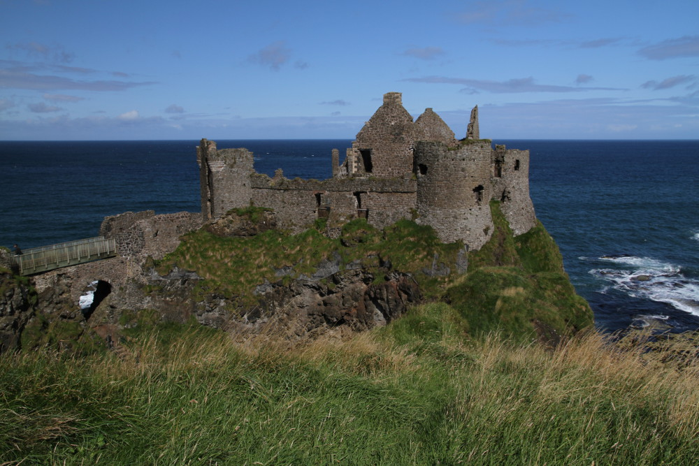 Dunluce Castle (Greyjoy's castle on the IronIslands in Game of Thrones), County Antrim, Northern Ireland