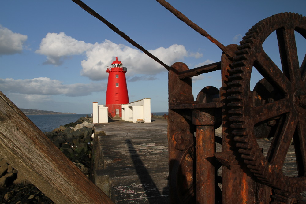 The Poolbeg Lighthouse - Red Lighthouse, Dublin Bay