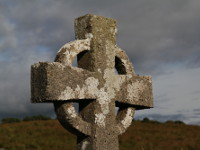 Stone Celtic Cross, Burrishoole Friary, County Mayo